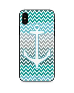 Anchor of Love- Aqua iPhone XS Max Skin