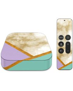 Angled Marble Apple TV Skin