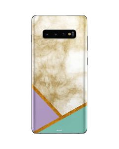 Angled Marble Galaxy S10 Plus Skin