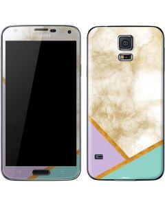 Angled Marble Galaxy S5 Skin