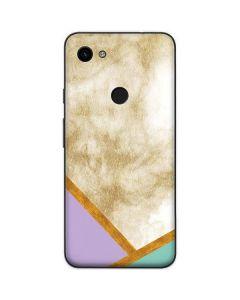 Angled Marble Google Pixel 3a Skin