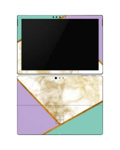 Angled Marble Surface Pro 6 Skin