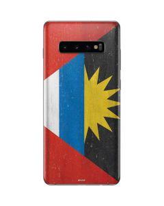 Antigua and Barbuda Flag Distressed Galaxy S10 Plus Skin