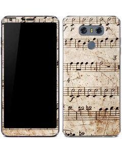Antique Notes LG G6 Skin