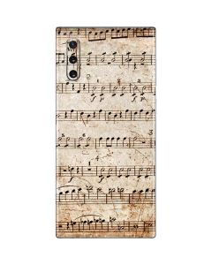 Antique Notes Galaxy Note 10 Skin