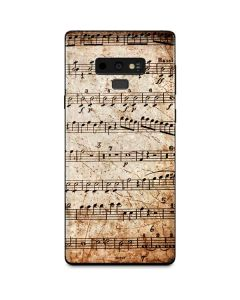 Antique Notes Galaxy Note 9 Skin