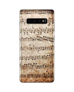 Antique Notes Galaxy S10 Plus Skin