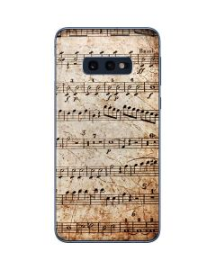 Antique Notes Galaxy S10e Skin