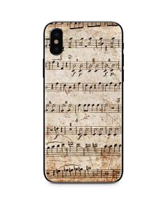 Antique Notes iPhone X Skin