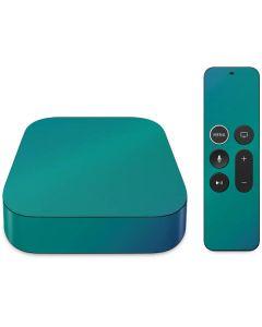 Aqua Blue Chameleon Apple TV Skin