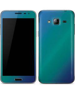 Aqua Blue Chameleon Galaxy J3 Skin