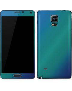 Aqua Blue Chameleon Galaxy Note 4 Skin