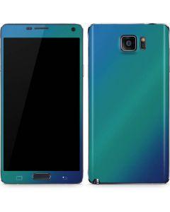 Aqua Blue Chameleon Galaxy Note5 Skin