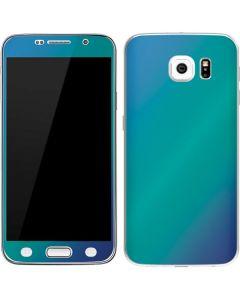 Aqua Blue Chameleon Galaxy S6 Skin