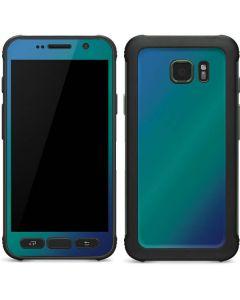 Aqua Blue Chameleon Galaxy S7 Active Skin