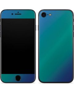 Aqua Blue Chameleon iPhone 7 Skin