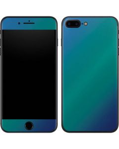 Aqua Blue Chameleon iPhone 8 Plus Skin