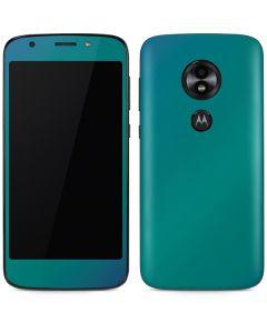 Aqua Blue Chameleon Moto E5 Play Skin