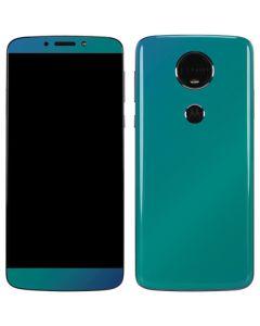 Aqua Blue Chameleon Moto E5 Plus Skin