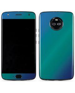 Aqua Blue Chameleon Moto X4 Skin