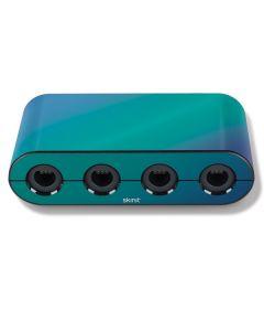 Aqua Blue Chameleon Nintendo GameCube Controller Adapter Skin
