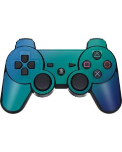 Aqua Blue Chameleon PS3 Dual Shock wireless controller Skin