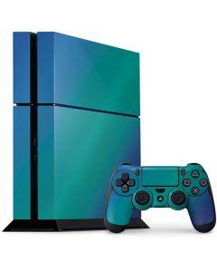 Aqua Blue Chameleon PS4 Console and Controller Bundle Skin