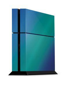 Aqua Blue Chameleon PS4 Console Skin