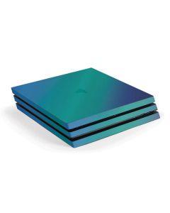 Aqua Blue Chameleon PS4 Pro Console Skin