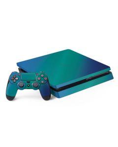 Aqua Blue Chameleon PS4 Slim Bundle Skin