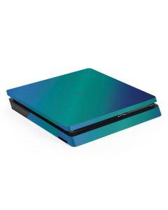 Aqua Blue Chameleon PS4 Slim Skin