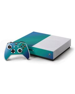 Aqua Blue Chameleon Xbox One S Console and Controller Bundle Skin