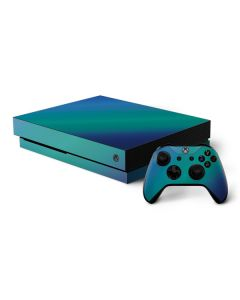 Aqua Blue Chameleon Xbox One X Bundle Skin