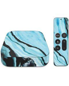 Aqua Blue Marble Ink Apple TV Skin