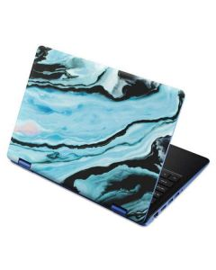 Aqua Blue Marble Ink Aspire R11 11.6in Skin