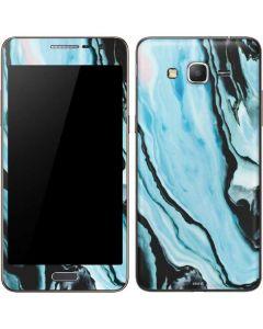 Aqua Blue Marble Ink Galaxy Grand Prime Skin