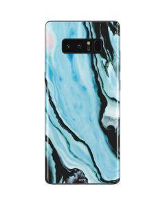 Aqua Blue Marble Ink Galaxy Note 8 Skin
