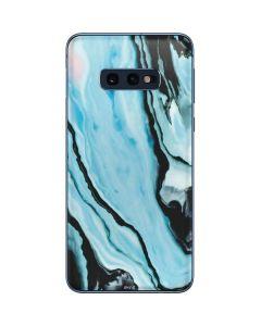 Aqua Blue Marble Ink Galaxy S10e Skin