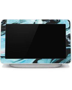 Aqua Blue Marble Ink Google Home Hub Skin