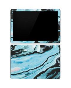 Aqua Blue Marble Ink Google Pixel Slate Skin