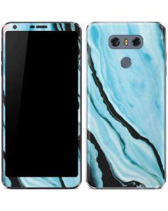 Aqua Blue Marble Ink LG G6 Skin