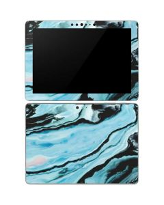 Aqua Blue Marble Ink Surface Go Skin