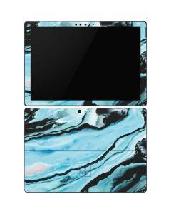 Aqua Blue Marble Ink Surface Pro 6 Skin