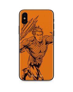 Aquaman Comic Pop iPhone X Skin