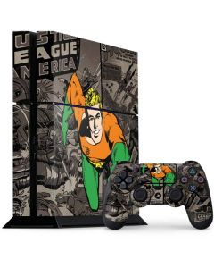 Aquaman Mixed Media PS4 Console and Controller Bundle Skin