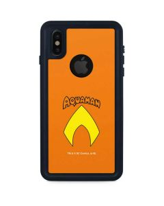 Aquaman Official Logo iPhone X Waterproof Case