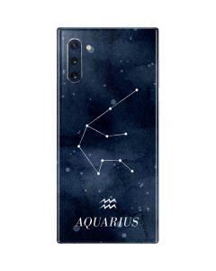 Aquarius Constellation Galaxy Note 10 Skin