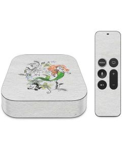 Ariel and Flounder Apple TV Skin