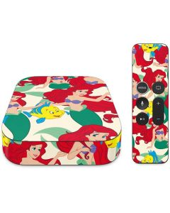 Ariel and Flounder Pattern Apple TV Skin