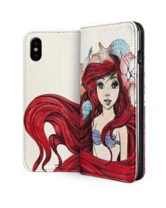 Ariel Illustration iPhone XS Folio Case